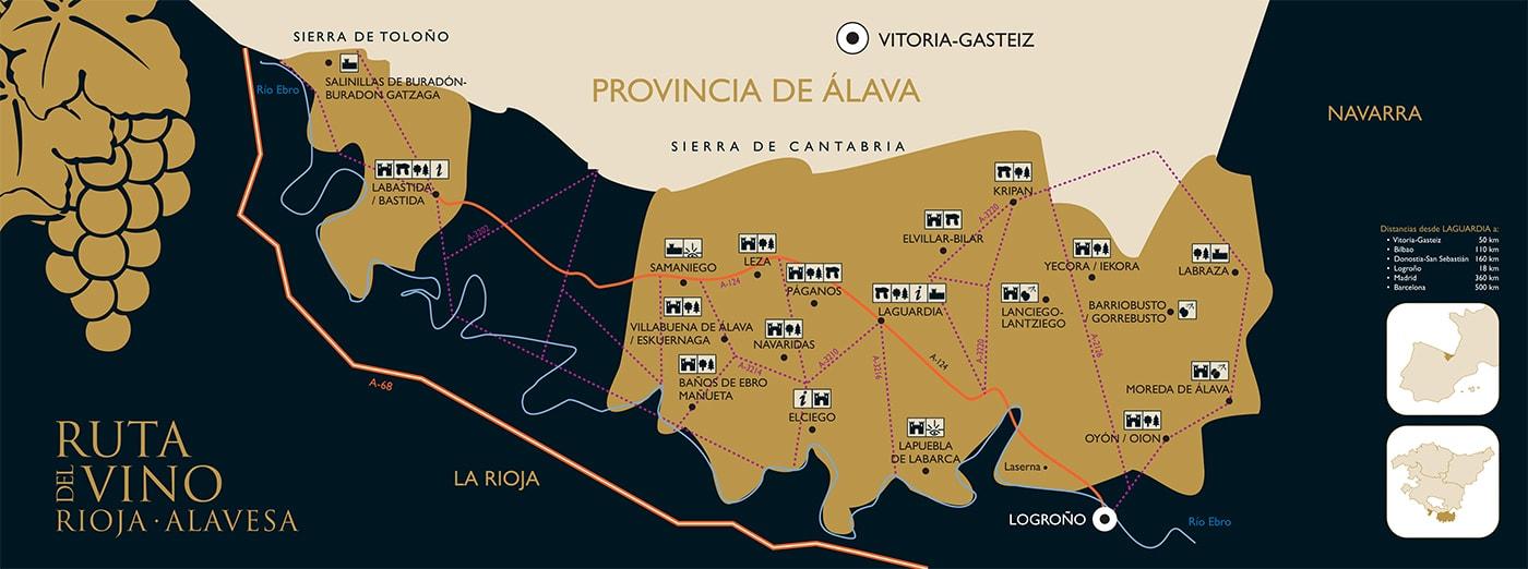 Mapa de la Rioja Alavesa