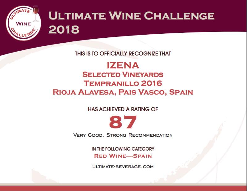 Ultimate Wine Challenge Izena-2016