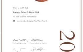 Decanter Asia Wine Awards | Bodegas Zintzo | Crianza 5.Zintzo